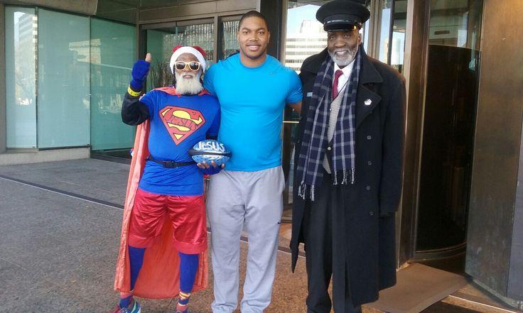 #kcsuperman Derrick Thomas son, Tall Paul.