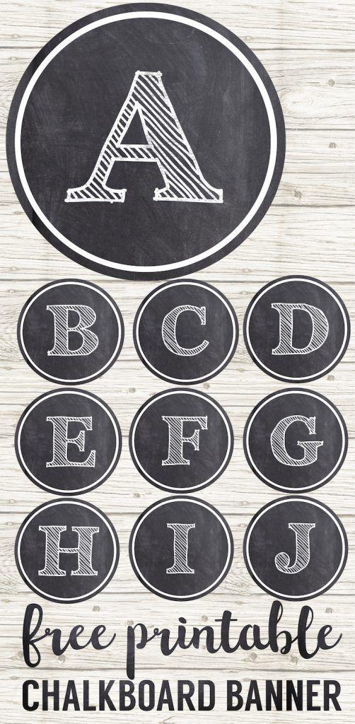 Chalkboard Banner Letters Free Printable Alphabet 179