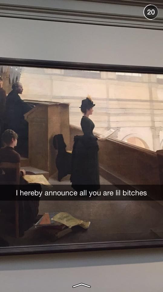 See 27 Amazing Works Of Art From The Met Museum On Snapchat
