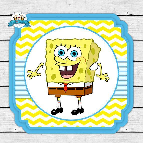 Sponge Bob Squarepants Birthday Party Printable Invitations