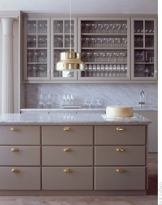 gray cabinetry