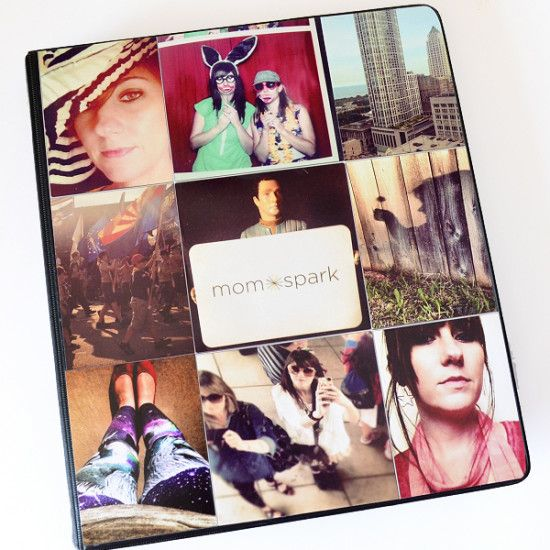 Turn Instagram photos and Mod Podge into a cool and totally personalized binder. Full tutorial.
