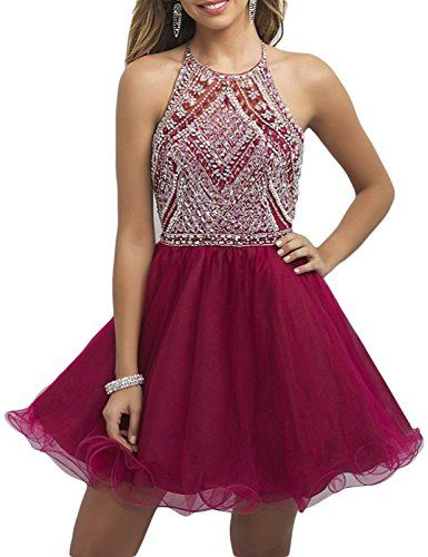 OYISHA Womens Backless Beaded Prom Dress 2016 Homecoming Dresses Short 79HC Burgundy 8. Please Be Aware: Seller Litchi Ice is selling counterfeit article using our OYISHA¡¯s trademark without license or prior written authorization. Don't purchase from Litchi Ice. Material : Organza & Beading. Backless with zipper closure. Short A-line Elegant Summer Sleeveless Beading Prom Dress Beaded Holiday Party Gowns for Teens/Juniors. Wash hand/ Dry clean only. Size: To make your dress fittest and...