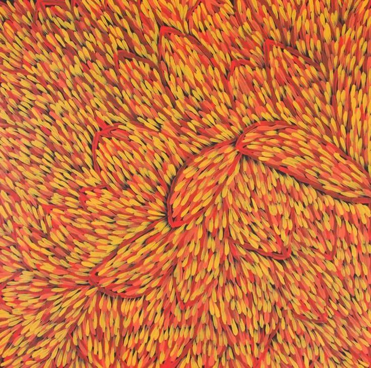 Bush Medicine Plant (GP-1005) by Gloria Petyarre http://merindahart.com.au/artists/gloria-petyarre