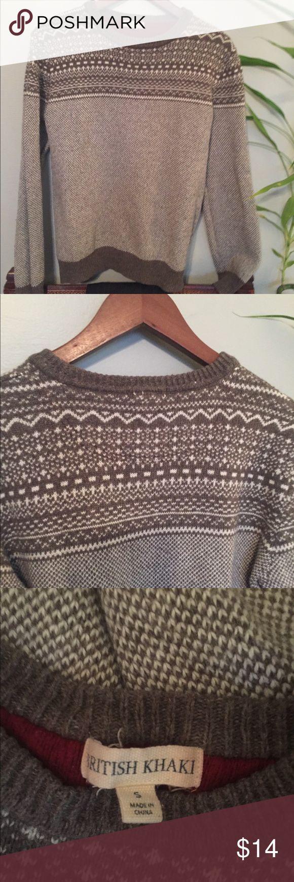 British Khaki Lambswool Sweater Perfect for those Snowy Days! GUC. Lambswool Blend. Super Soft! British Khaki Sweaters Crew & Scoop Necks