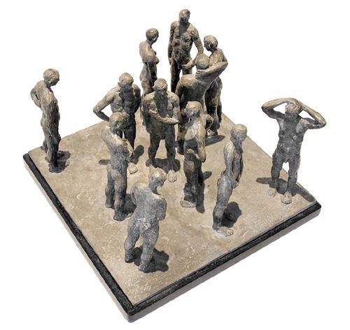 'The Spaces Between' Bronze Sculpture by South African artist: Grace da Costa. www.gracedacosta.com