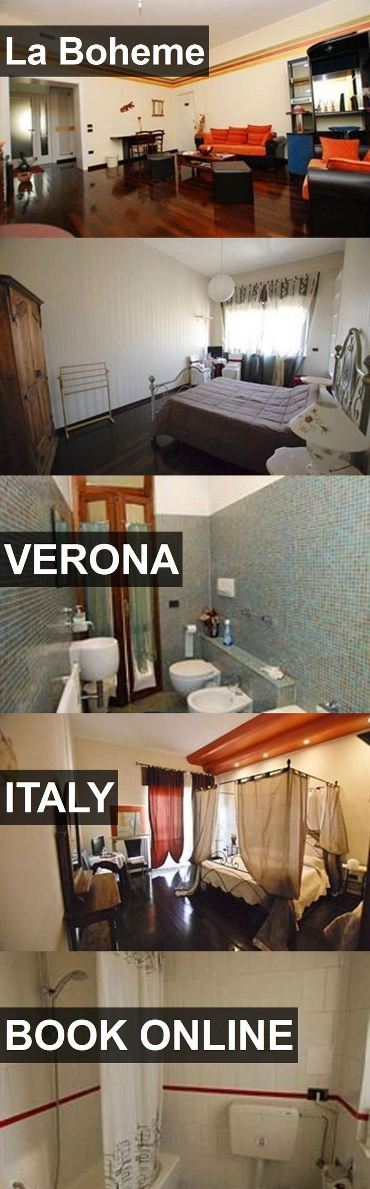 Hotel La Boheme in Verona, Italy. For more information, photos, reviews and best prices please follow the link. #Italy #Verona #LaBoheme #hotel #travel #vacation