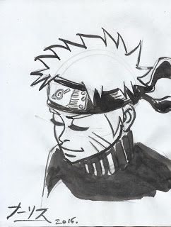 THE ART OF WALLIS : SMALL SKETCHES OF THE WEEK #Naruto #manga #sketch #inks #portrait #anime #drawing #art