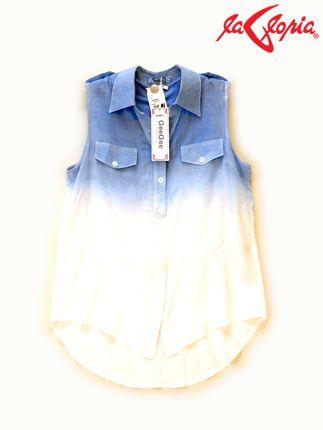 Una camisa con degradado será el acompañante ideal de unos jeans, enagua o shorts. Este look no te fallará.
