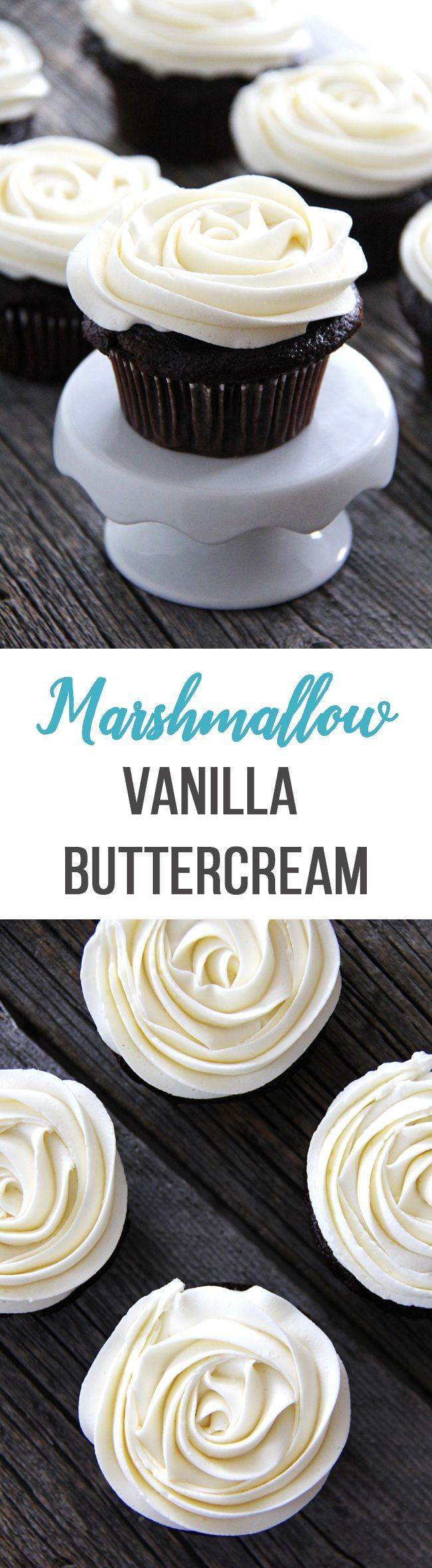 Marshmallow Vanilla Buttercream Frosting (Homemade Chocolate Ganache)