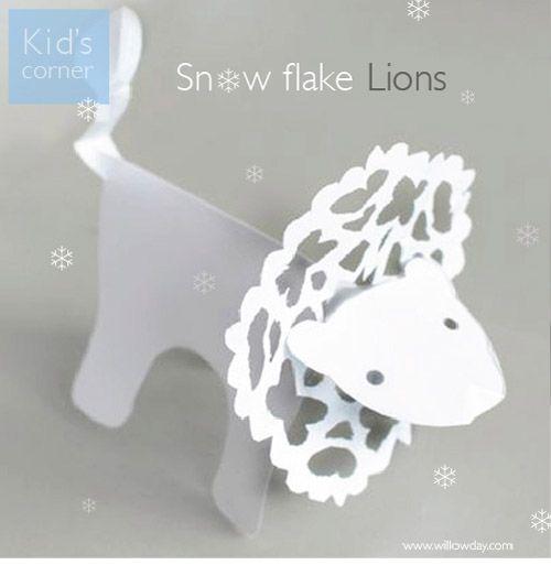Rainbowsandunicornscrafts: DIY Lion Snowflake Tutorial and...