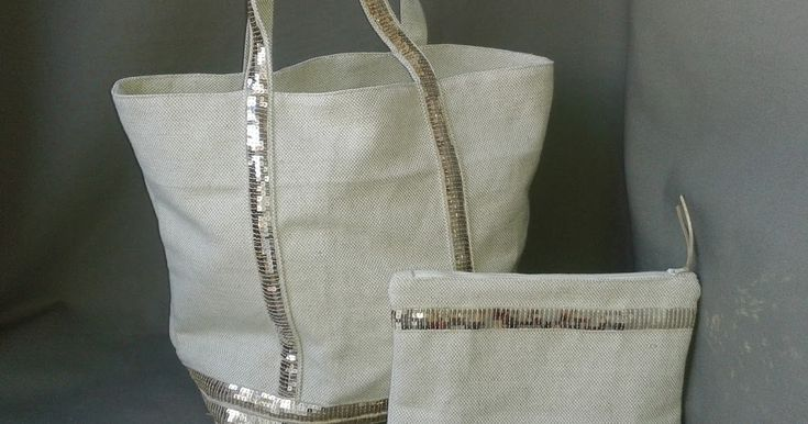 La petite étoile: Cabas et pochette paillettes doré