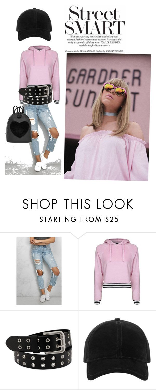"""rock with pink"" by sanja-stevceva on Polyvore featuring Rare London, Topshop and rag & bone"