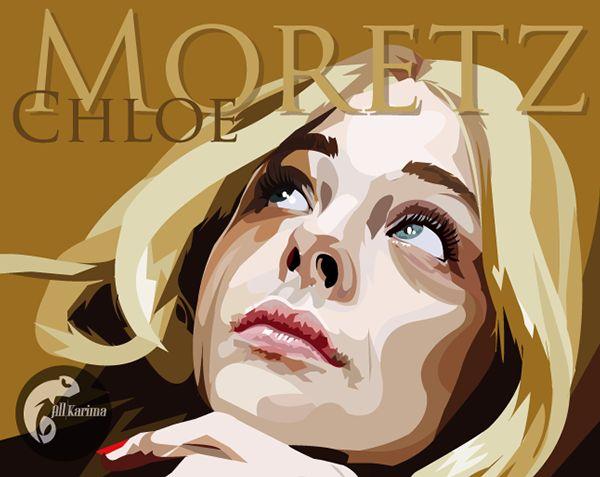 Chloë Grace Moretz Vector by Allysen Karima, via Behance