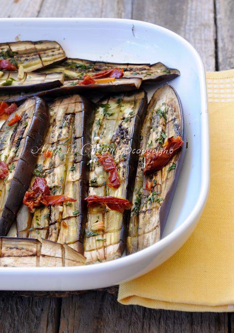 Melanzane al forno con aglio e prezzemolo ricetta sarda vickyart arte in cucina