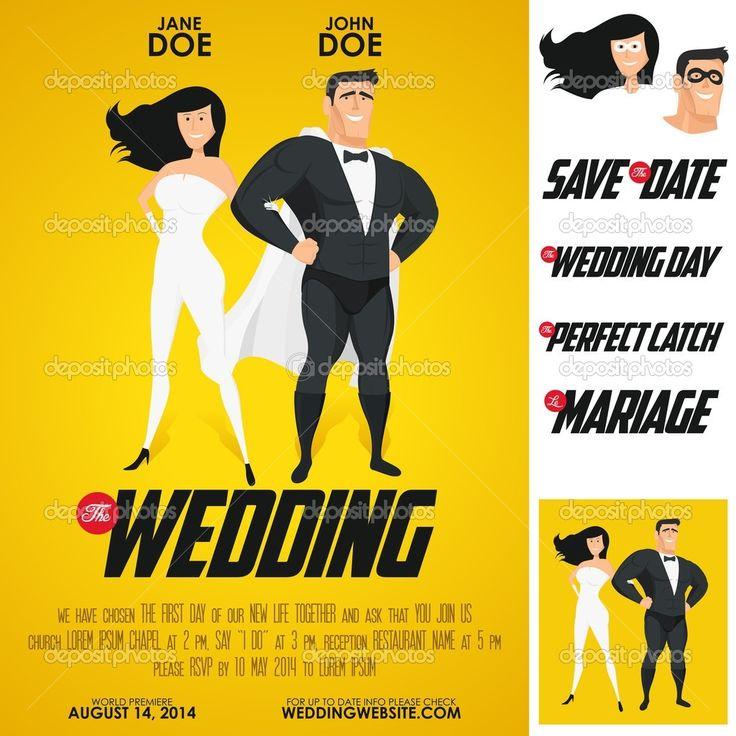 superhero wedding invitations check more image at httpbybrilliantcom1854 - Superhero Wedding Invitations