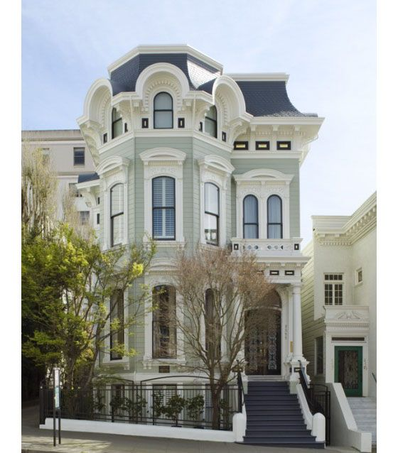 Victorian house in Pacific Heights in San Francisco.