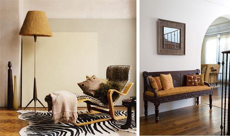 В африканском стиле не стоит бояться минимализма и простоты