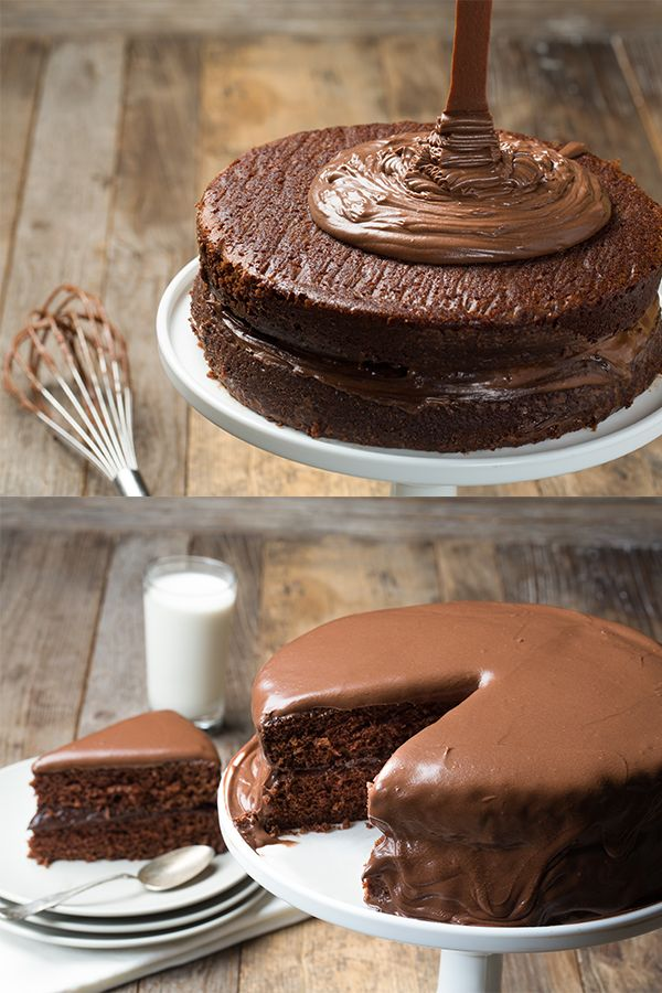 Looking for a savory twist to a classic cake recipe? The Coca-Cola Chocolate Cake with Ganache Icing is a go-to recipe by award-winning chef, Linton Hopkins!