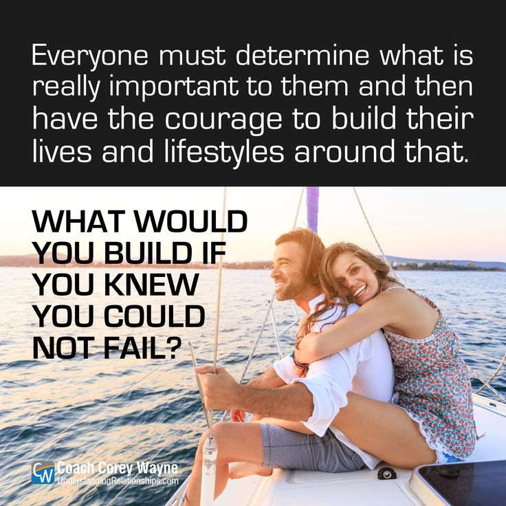 """#lifestyle #career #relationships #dating #love #seduction #goals #dreams #marriage #family #selfreliance #success #happiness #coachcoreywayne Photo by iStock.com/valentinrussanov """"Everyone must determine what is really important to them and then have the courage to build their lives and lifestyles around that. What would you build if you knew you could not fail?"""" ~ Coach Corey Wayne"""