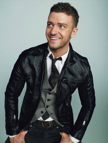 #JustinTimberlake #leatherjacket #vest #tie #goodcombo