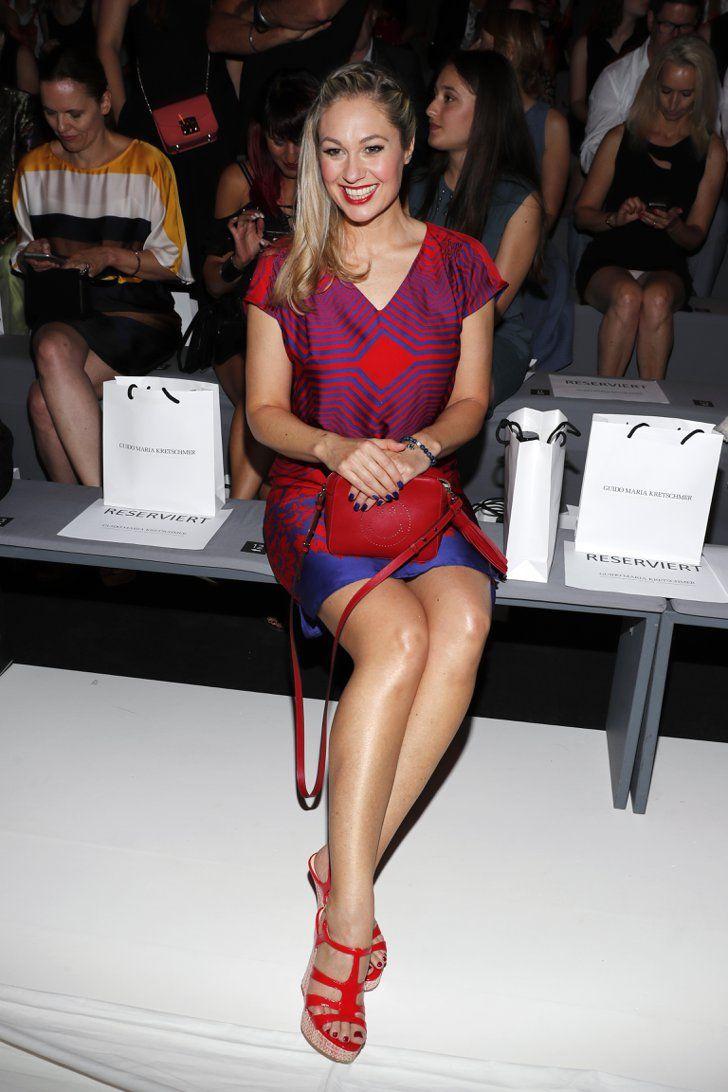 Pin for Later: Seht alle Stars bei der Berlin Fashion Week Ruth Moschner bei der Modenschau von Guido Maria Kretschmer
