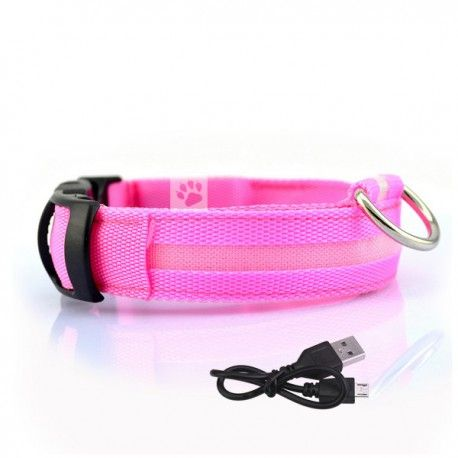 oplaadbare led halsband met verlichting roze