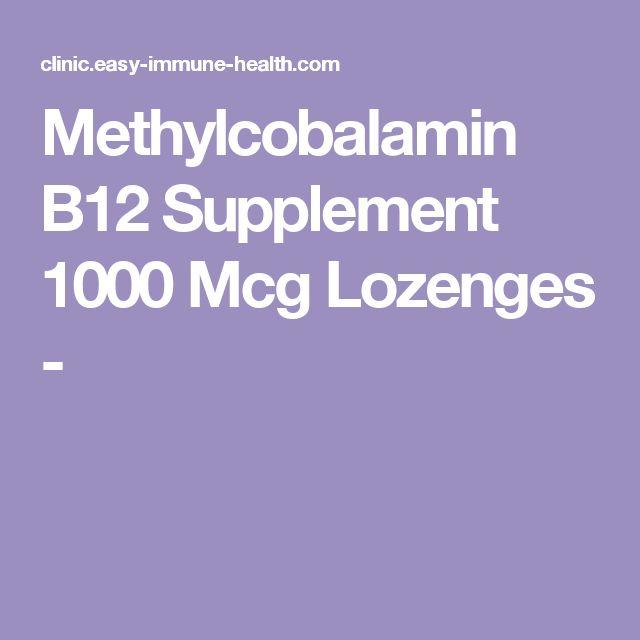Methylcobalamin B12 Supplement 1000 Mcg Lozenges -