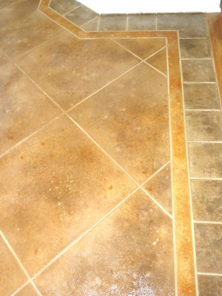 Stained Concrete Stone Tile Flooring Tile Look At An Angle With Images Tile Floor Stone Tile Flooring Stained Concrete