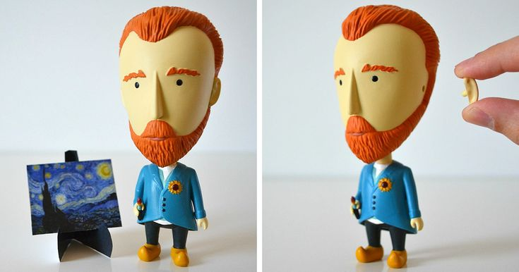 Van Gogh Action Figure With A Detachable Ear Is A Perfect Gift For Art Lovers | Bored Panda