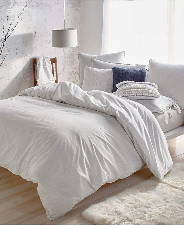 Dkny Pure Eco Cotton 200 Thread Count Reversible Chambray King Duvet Cover Bedding Mattress Furniture Duvet Covers Elegant Duvet Covers