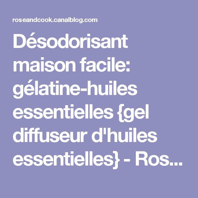 Désodorisant maison facile: gélatine-huiles essentielles {gel diffuseur d'huiles essentielles} - Rose & Cook
