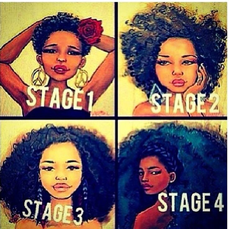 Long 4C Hair | Natural Hair Inspiration: The Stages of 4C Hair | Natural hair journey ...