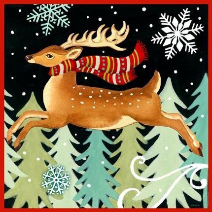 Deer Leaping by Jennifer Brinley | Ruth Levison Design