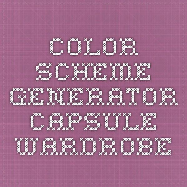 Color Scheme Generator - Capsule Wardrobe