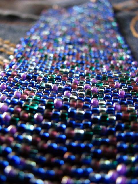 Bead Soup cuff bracelet by EvaBeading, via Flickr