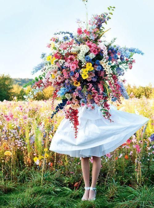 We love a wildflower bouquet - although perhaps this one would need to be shrunk down a teeny bit to fit down the aisle!