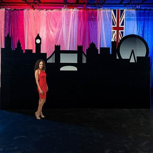 Party Games and Activities 102411: London Skyline Silhouette British Themed Party Background -> BUY IT NOW ONLY: $164.98 on eBay!