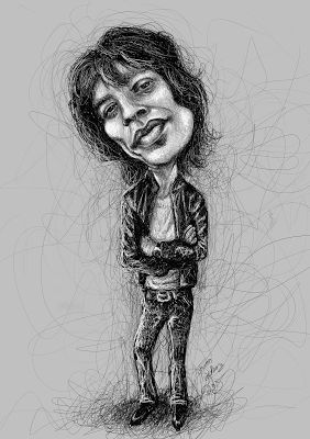 Karikaturisti: Mick Jagger