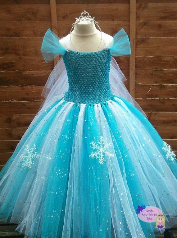 Elsa frozen inspired tutu dress by sarahsprettie on Etsy