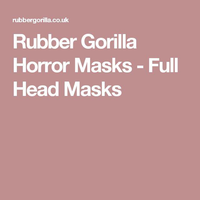 Rubber Gorilla Horror Masks - Full Head Masks
