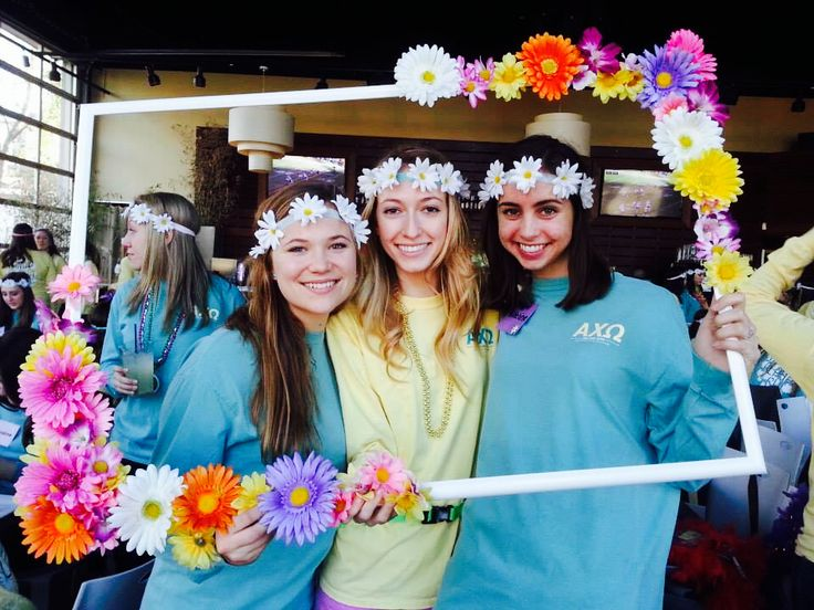 ❃❁ flower power on Bid Day 2014 ❁❃