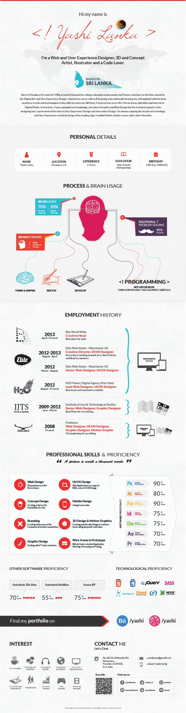 17 best images about infographic resume infographic inforgraphic resume by yashi el via behance