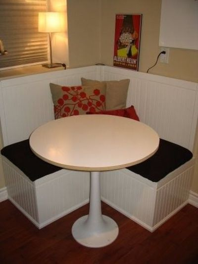 diy booth seating (size comparison)