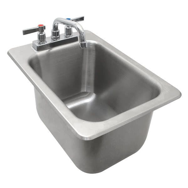 Advance Tabco Dbs 1 One Compartment Stainless Steel Drop In Bar Sink 12 X 20 Bar Sink Drop In Kitchen Sink Sink