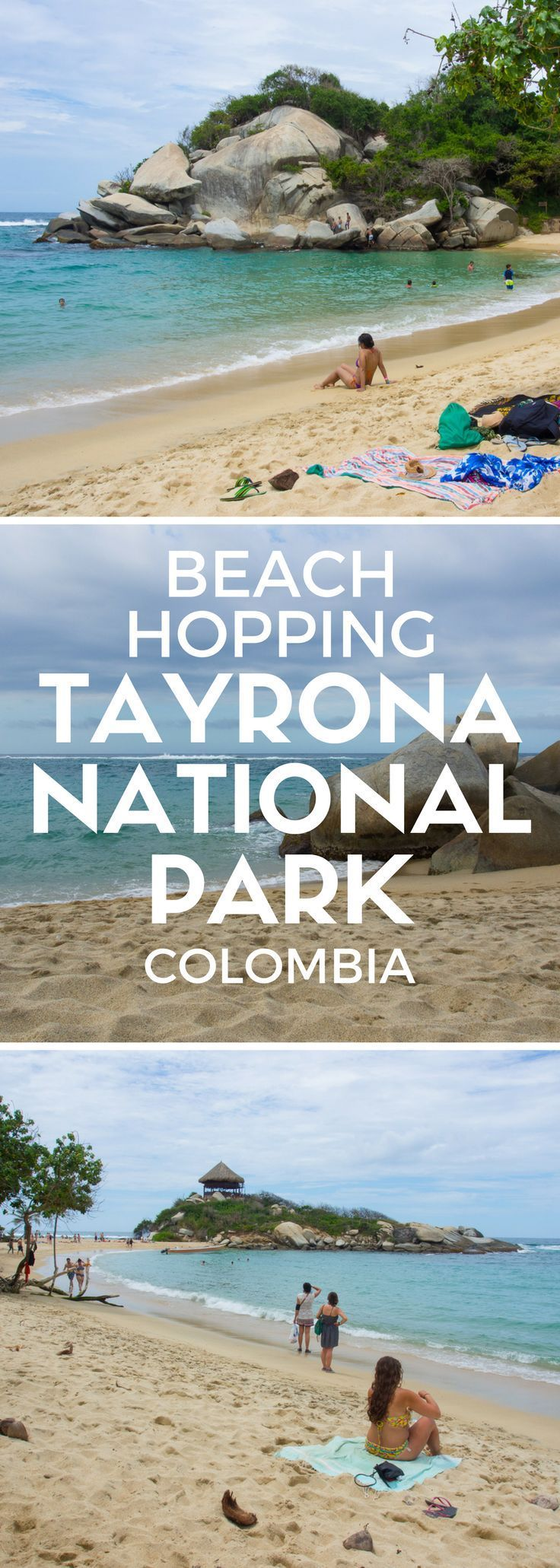Colombia's Tayrona National Park shakes you with drastic beauty: hike from beach to another, ride through the jungle and visit ancient ruins!