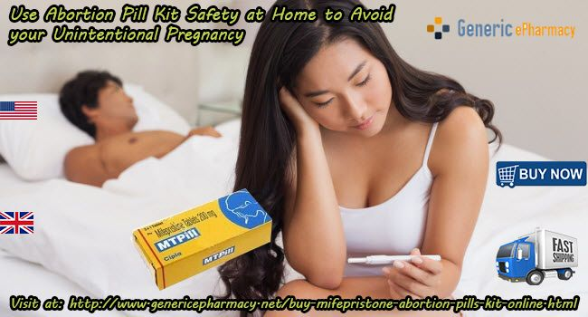 Both the generic medications are responsible for the execution of #unexpected_pregnancy. Women can #buy_Mifepristone and Misoprostol #Cheap Abortion Pill Kit Online in #USA #UK, from #GenericEPharmacyw website over the counter in #Canada #Australia #California #London #Ireland. Visit at: http://www.genericepharmacy.net/buy-mifepristone-abortion-pills-kit-online.html