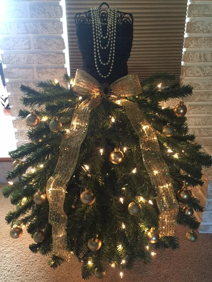 281 best Dress Form Christmas Trees images on Pinterest | Dress ...