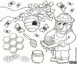 afbeeldingsresultaat voor kleurplaat bijenkorf met
