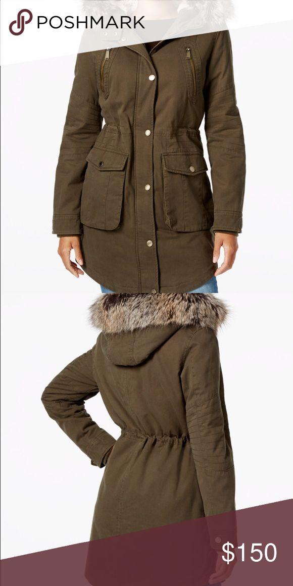 """BCBGENERATION Jacket Green jacket 32"""" long BCBGeneration Jackets & Coats"""